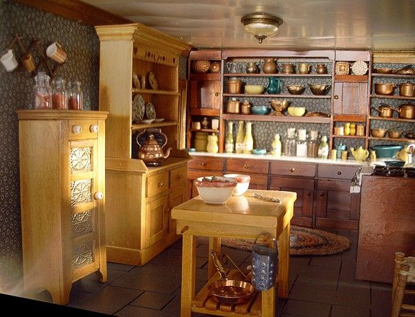 Brownstone kitchenBrownstone Kitchens, Dollhouse Interiors, Dollhouse Room, Dollhouse Kitchens, Dollhouse Treasure, Dolls House, Miniatures Dol House, Dollhouse Numbers, Dollhouse Miniatures