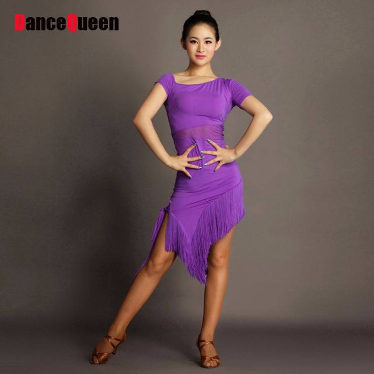 Cheap costumes funny, Buy Quality dresses for large ladies directly from China dresses to wear out Suppliers: 2017 Women Latin Dance Dress Skewcollar Top Tassel Skirt Performance Stage Regata Flamenco Latin Salsa Dresses Samba Costume