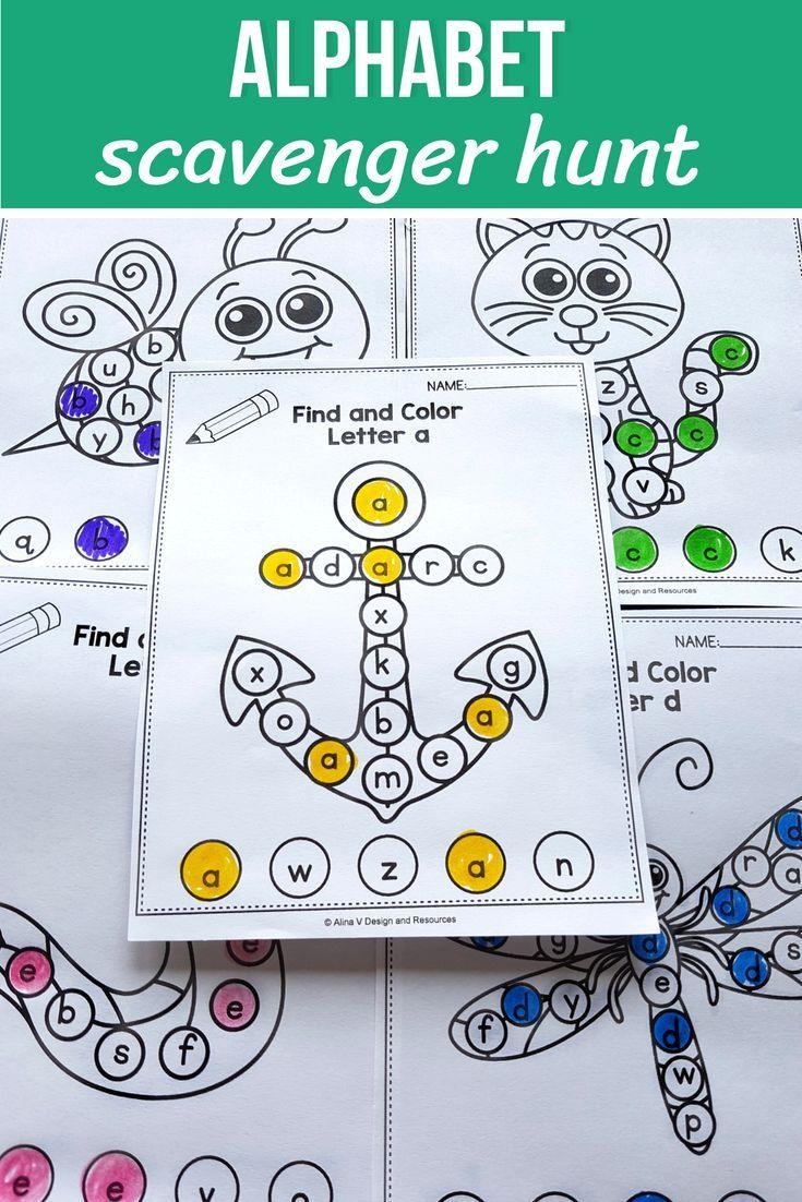 Alphabet I Spy Letters Worksheets For Preschool Kindergarten And First Grade Stude 1st Grade Activities Letter Recognition Worksheets Fun Classroom Activities [ 1102 x 735 Pixel ]