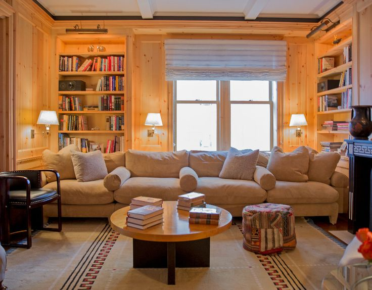 Davidnettodesign Projects Park Ave Duplex Roman ShadesSchumacherLiving Room