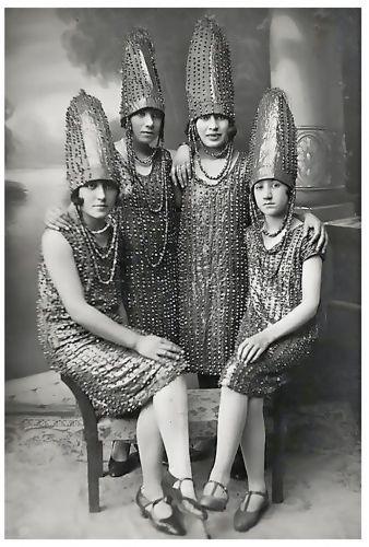 The Pickle Sisters? Women in amusing costume, ca 1920s. Via Wip Wap