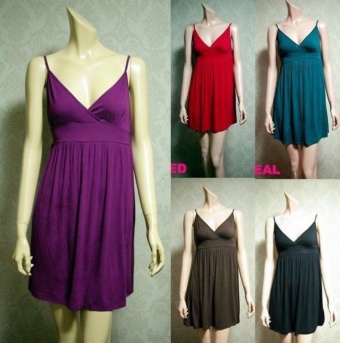 Forever 21 Women Spaghetti Strap V-neck Dresses Top Summer Mini Skirt -sz S,M,L #FOREVER21 #Casual