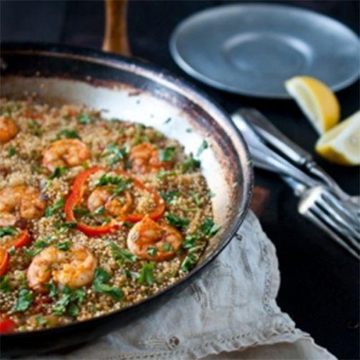 Paprika Shrimp and Sausage Quinoa Paella
