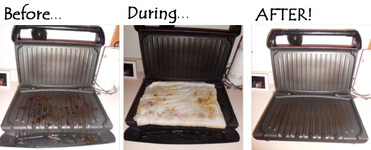 The easy way to clean a George Foreman grill