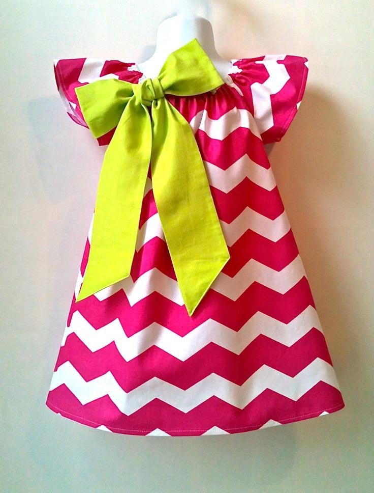 Girls Chevron dress