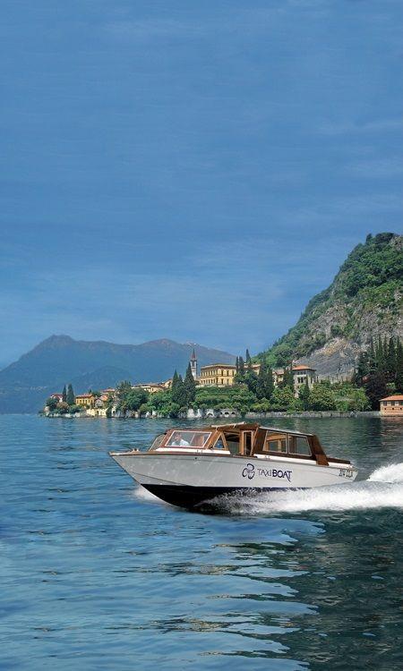 Taxi boat on Como Lake