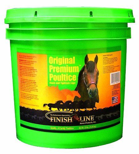 Finish Line Horse Products Original Premium Clay by Finish Line. $14.99. It is creamy smooth; it goes on easy and comes off easy.. Finish Line?s original poultice with all natural essential oils does a better job on more serious stiffness, soreness and inflammation.. A must for packing sore, bruised feet.. Draws heat and inflammation like no other poultice.. 12.9-Pounds Original Premium Poultice Draws more heat than any other Poultice! Original Premium Poultic...