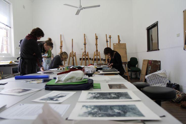 Inside the print making studio