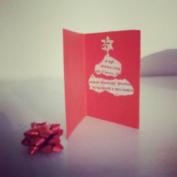 Biglietti auguri di Natale carta riciclata