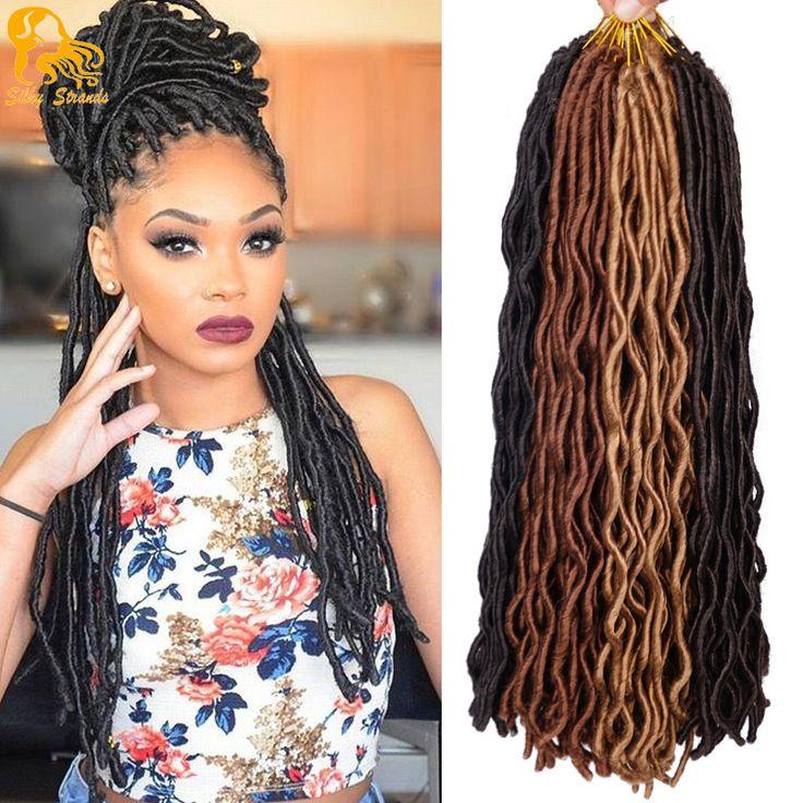 24'' Faux Locs Crochet Hair 2x Janet Collection Havana Mambo Faux Locs 24Roots Wavy Crochet Braids Faux Goddess Locs Extensions