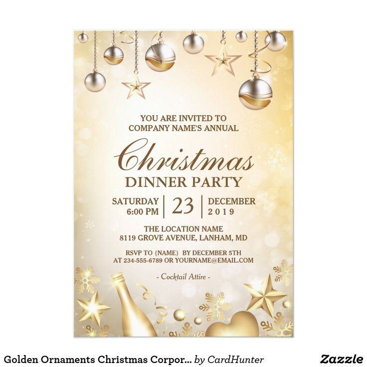 399 best Corporate,Office Christmas Parties by Zazzlers images on - business dinner invitation sample