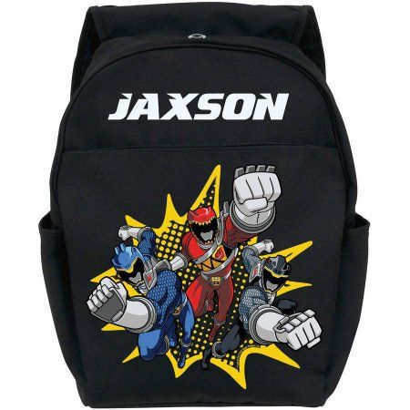Personalized Power Rangers Dino Charge Black Youth Backpack
