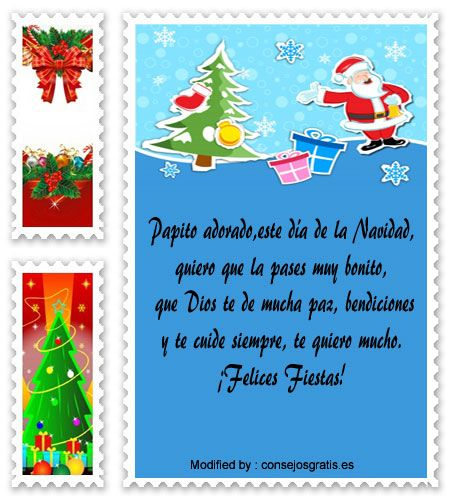 bonitas tarjetas para enviar en Navidad,versos para enviar en Navidad:  http://www.consejosgratis.es/nuevos-mensajes-de-navidad-para-papa/