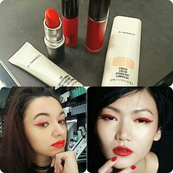 Copy look mac cosmetics~strobe cream~lip conditioner~rebel lipglass ~