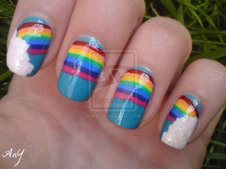 unique nails | 30+ Pretty Cool Rainbow Nail Art Designs | EntertainmentMesh