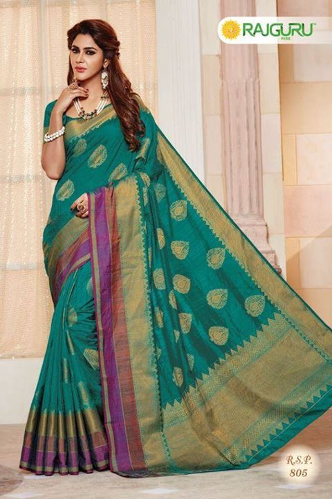 fe53f488d625b6 Original INDIAN Pure Raw-Silk Pallu Kataan Saree Made by RAJGURU INDIA