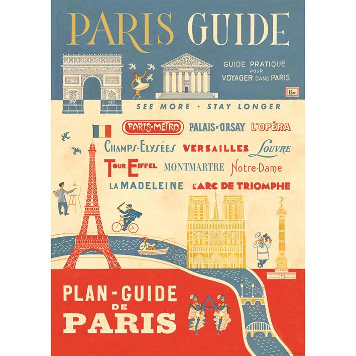 Poster/Giftwrap - Paris Guide at Evans and Hall $6.95 #Cavallini