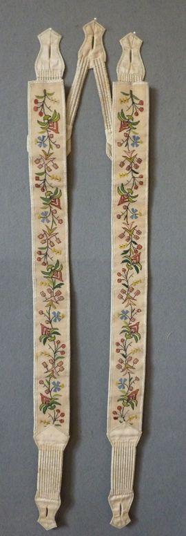 1830er, bestickte Hosenträger, England?