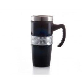 Tasse avec anse Middle Bling, 15 oz, noire
