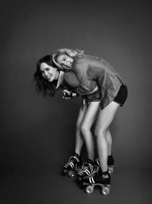 Ellen Page <3 Drew Barrymore <3 @Erin B B B B B Maidlow...we should do this!