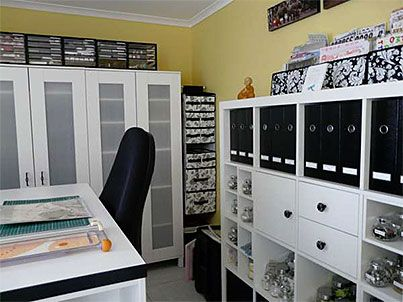 33 best SCRAPBOOK ROOMS =AWESOME images on Pinterest   Craft space ...