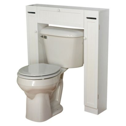 Tms smart space over toilet etagere white downstairs for Small bathroom etagere