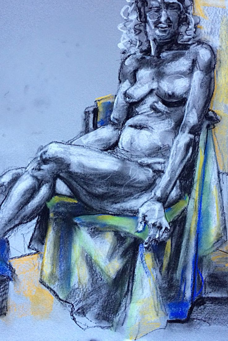 Nude #60 #art #therapy #graphite #charcoal #pastel #mclarenartcentre #lifedrawing #class