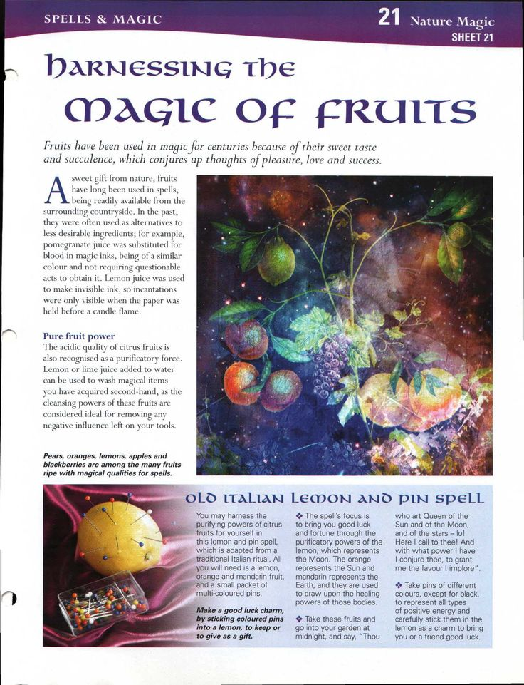 Harnessing the Magick of Fruits