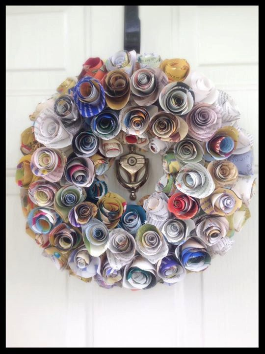 UpCycled Book Wreath Bookish Children's Book by BookishCreation