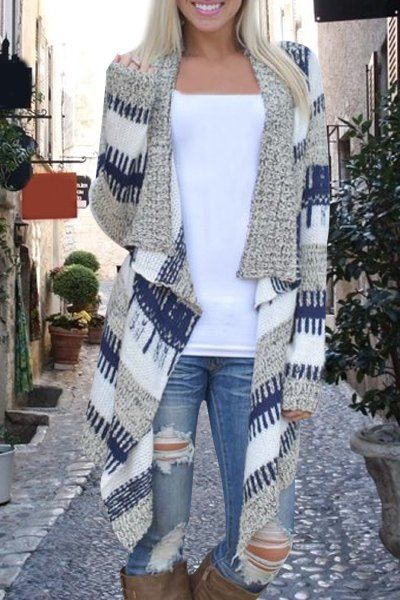 cozy long patterned sweater