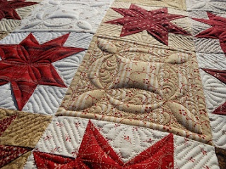 Love the quilting in this block.  It adds so much interest!!!  Love it!