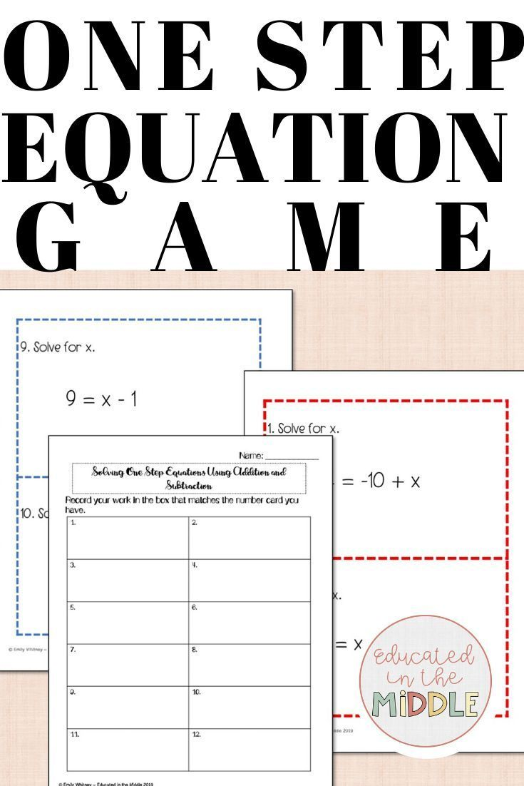 Worksheets One Step Equations Equations Solving Equations