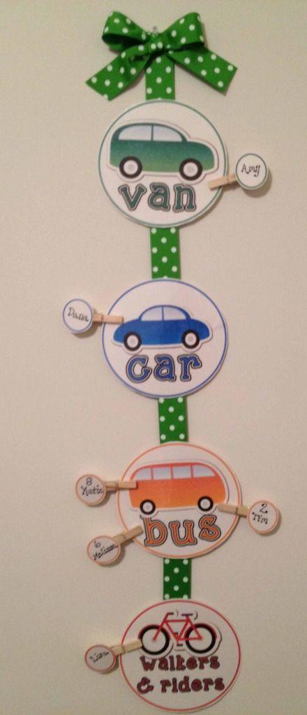 How do you get home Transportation Display - The Lesson Plan Diva - TeachersPayTeachers.com