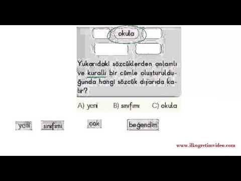 Anlamlı ve Kurallı Cümleler Oluşturma(1. 2. 3. sınıflar için)SÜPER ANLATIM - YouTube