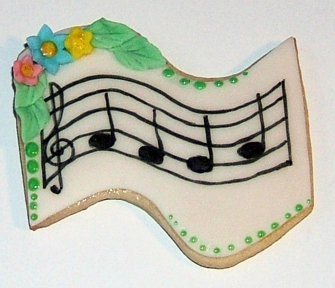 Detailed Music Staff Cookies