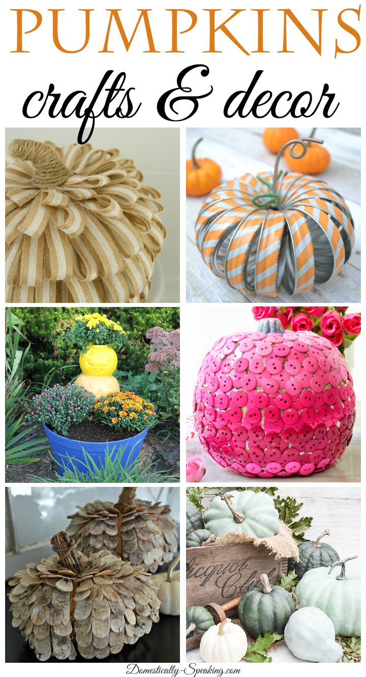 PUMPKINS... crafts and for home decor. Lots of great ideas to bring fall into your home along with some great tutorials. Autumn means you need pumpkins!