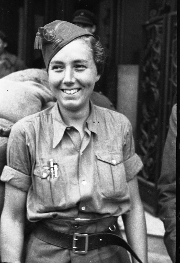 Spain - 1936. - GC - inter-brigadistin Fanny Edelman