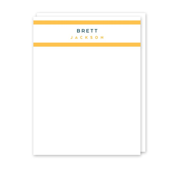 Stripe Personalized Note Card (Stationery) l Peony Hill Press -  Several styles to choose from - modern and classic!⠀ Check them out for the guy in your life - boyfriends, husbands, dads and grandpas!⠀ .⠀ .⠀ .⠀ .⠀ ⠀ #peonyhillpress #php #stationery #notecards #dad #men #male #correspondence #hello #thankyou #notepaper #gift #present #dad #father #grandpa #grandfather #uncle #teacher #giftidea #personalized #custom
