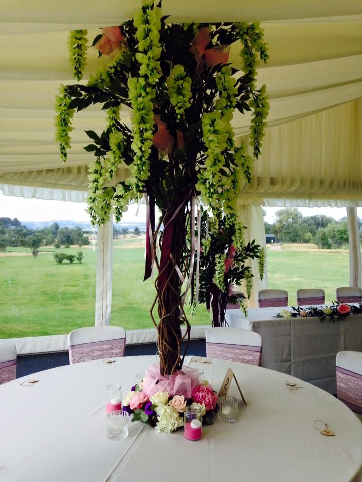 Fishlocks Wedding Table Arrangements