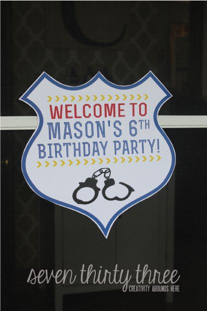 seven thirty three - - - a creative blog: Police Themed Birthday Party