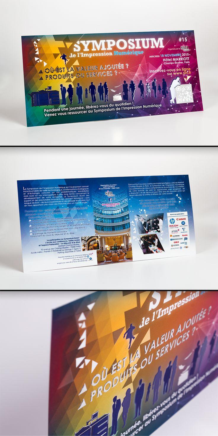 Plaquette imprimée sur Chronomat 350gr en quadri + pelliculage mat Soft Touch / Embellissement avec Vernis 3D et Foil
