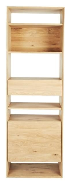 Ethnicraft Nordic 1 Drawer Bookcase In Oak Natural #globewest #ethnicraft  #bookcase