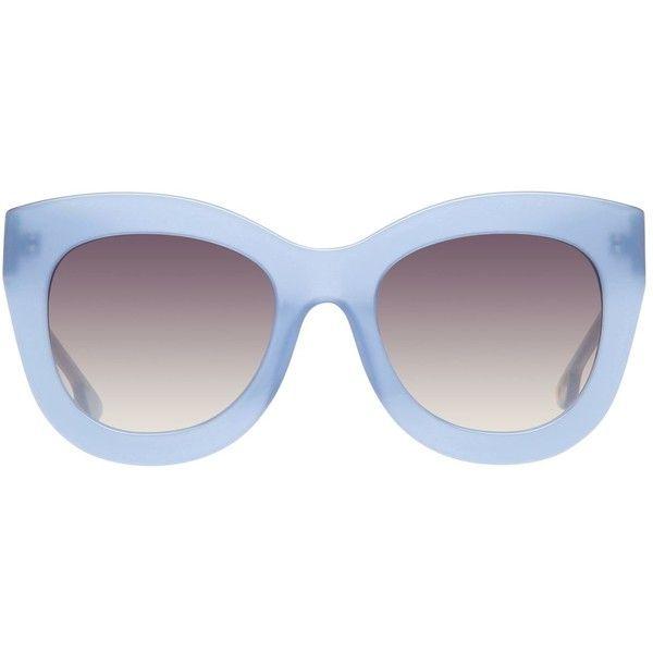 Alice + Olivia Madison Cat Eye Sunglasses ($285) ❤ liked on Polyvore featuring accessories, eyewear, sunglasses, acetate glasses, cat-eye glasses, gradient lens sunglasses, uv protection sunglasses and cat eye glasses
