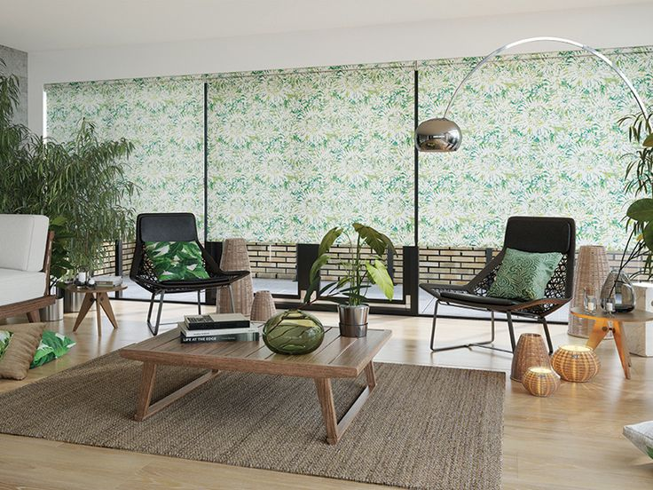 This Tropicana blind makes a lovely green backdrop to your conservatory even on dull days #ConservatoryBlinds