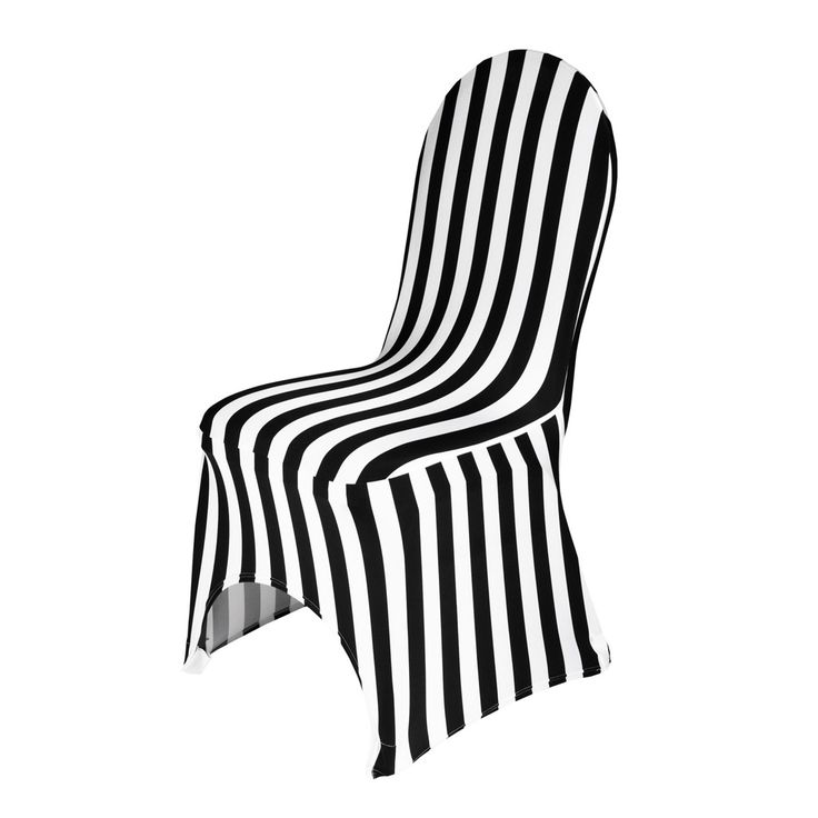 Striped Stretch Chair Cover Black Amp White Jakes