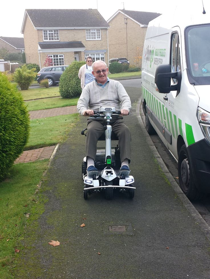 Mr Robinson enjoying the Flyte mobility scooter find out which is right for you with a demo here http://contact.quingoscooters.com/social-mobility-scooters