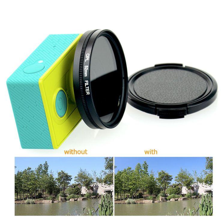 Xiaomi Yi action camera 52mm CPL lens Filter Circular Polarizing Filters For Xiaomi yi xiaomi yi 4k plus camera Lens Protector