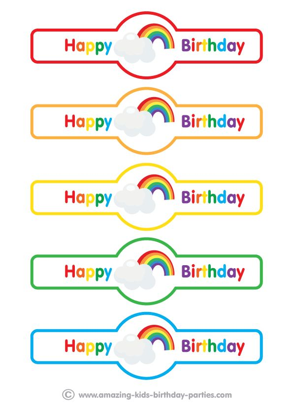 Have fun with our free Rainbow Party Napkin Holders at www.amazing-kids-birthday-party-ideas.com/kids-party.html