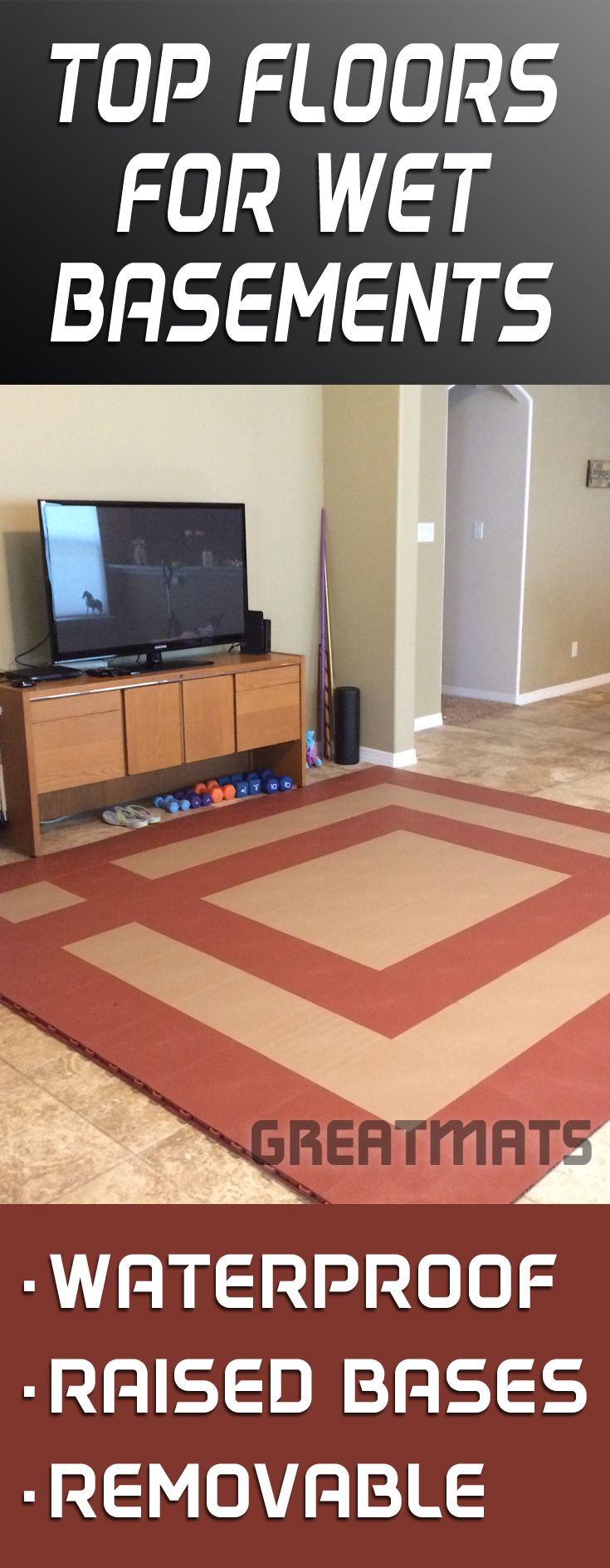 45 best images about basement flooring on pinterest for Basement flooring options