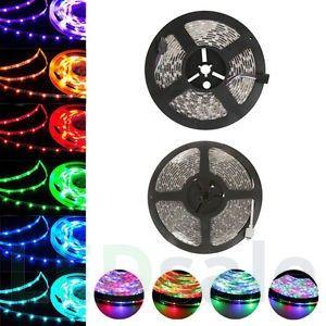 LED-List 5 meter - 7.5w/m, 30 LED/m - RGB (Stänktät)